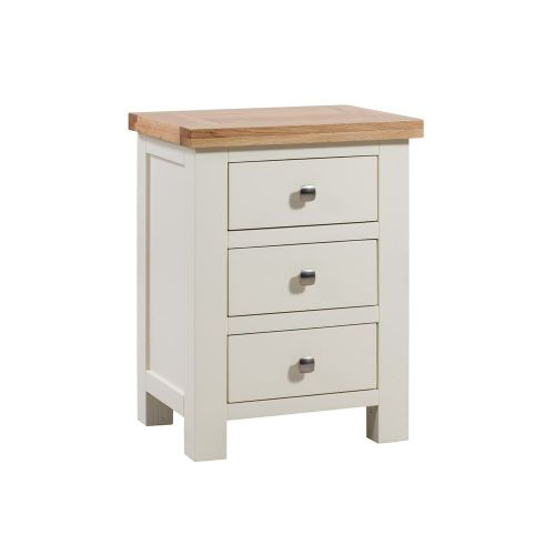 Elworth Painted 3 Drawer Bedside